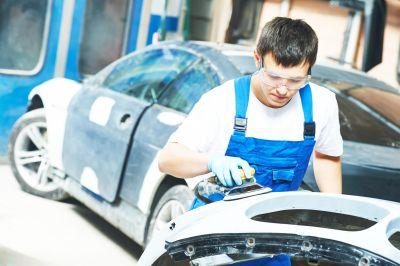 Preparing car body parts for polish